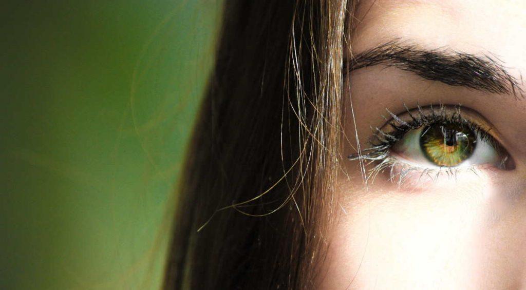 an eye of a woman